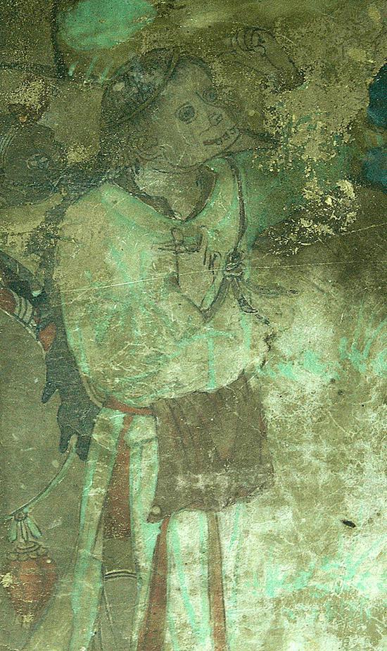 东千佛洞第二窟南壁西侧中的行者
