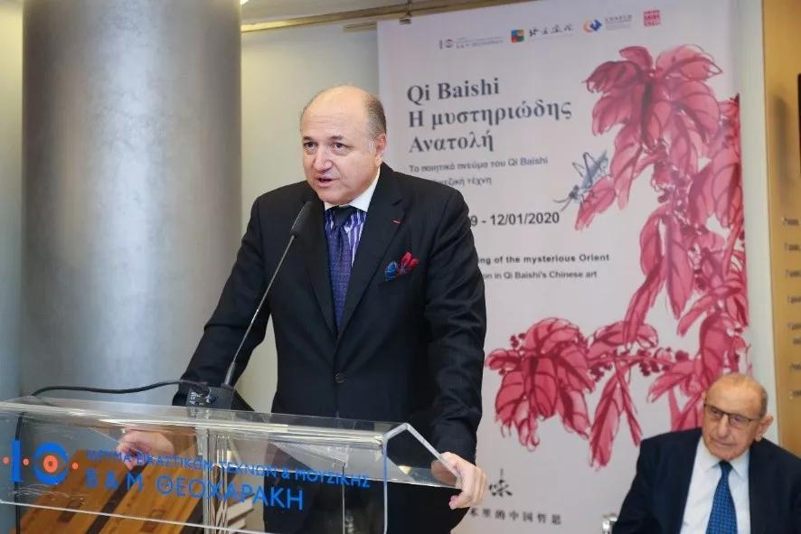塞奥哈拉基斯艺术基金会美术馆馆长   帕帕塔纳西欧先生主持本次开幕式