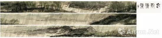 崔如琢《春雨潇潇》手卷 47×1964cm