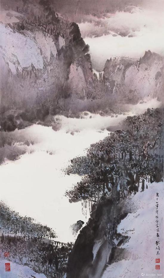 拍品编号241 顾媚(中国,1929年生) 《白云深处》