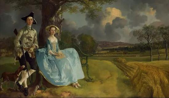 托马斯・庚斯博罗《罗伯特・安德鲁斯夫妇》1750年 油画 @伦敦国家美术馆