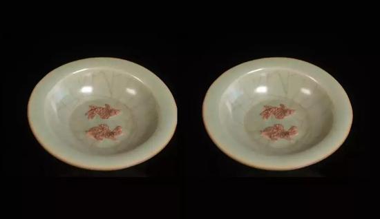 首期望拍拍品:宋-元·龙泉窑茶盏(一对)