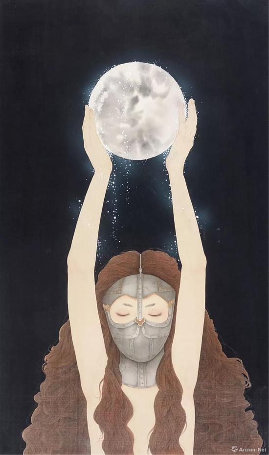 拍品编号243 周雪(中国,1980年生) 《冷月亮》