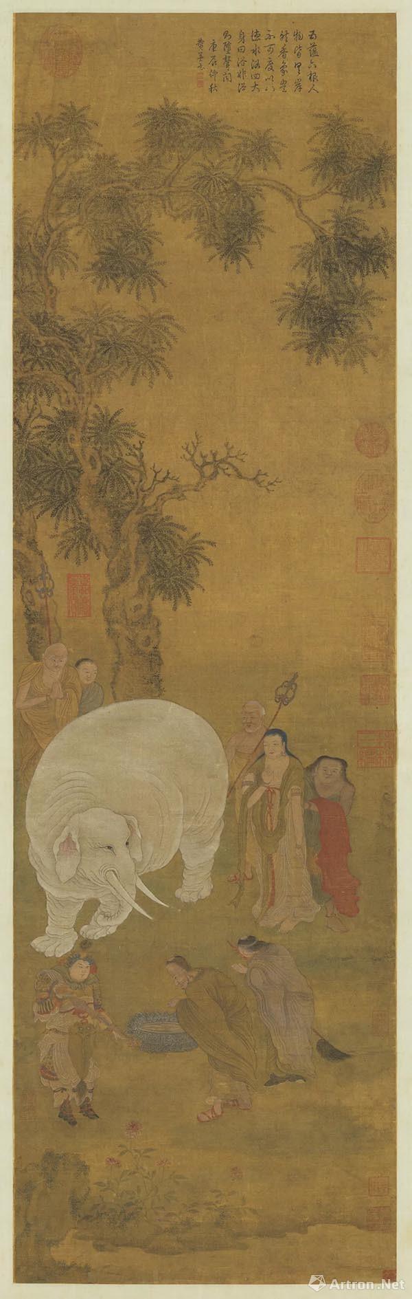 趙孟頫 浴象图 现藏于台北故宫博物院