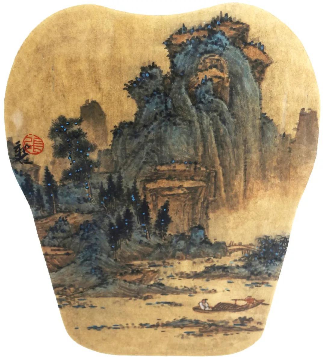《溪山清远图》37cm×29cm