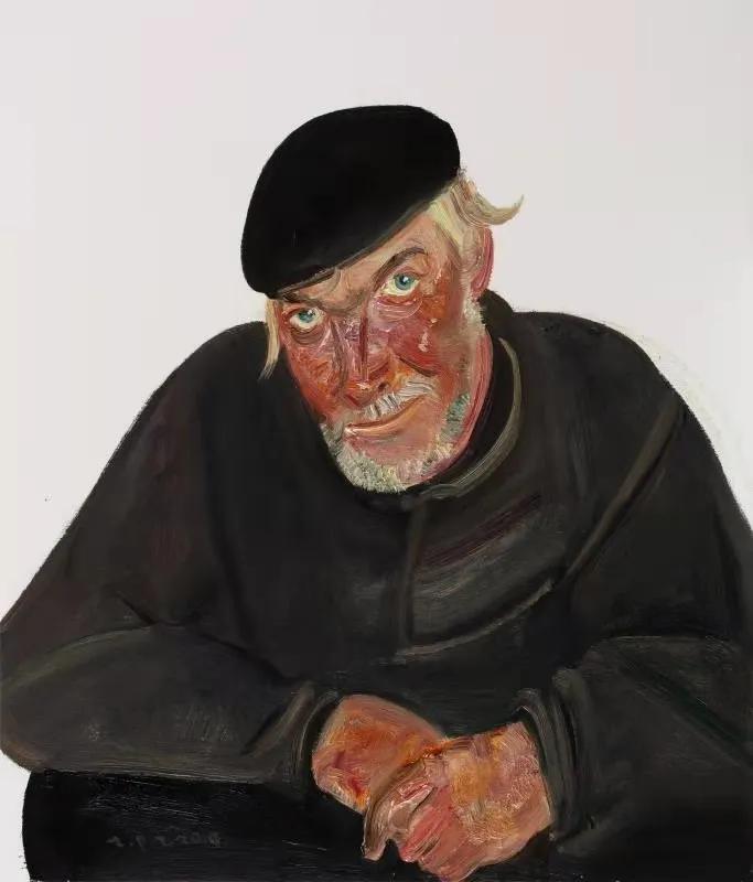 赵培智《俄罗斯老人》70cm×60cm布面油画2019.8