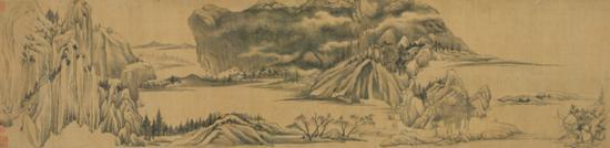 董其昌《烟江叠嶂图》局部,上海博物馆藏