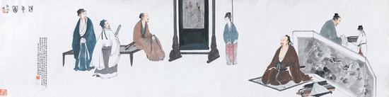 傅抱石 《洗手图》 1942年作