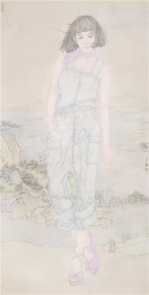 《千里江山图三》136×68cm 2009年