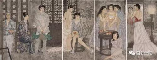《惠风和畅图》136×340cm 2005年