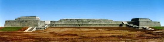 西安大明宫含元殿基址复原前后对比 图片来源-西安曲江大明宫遗址保护区文物局