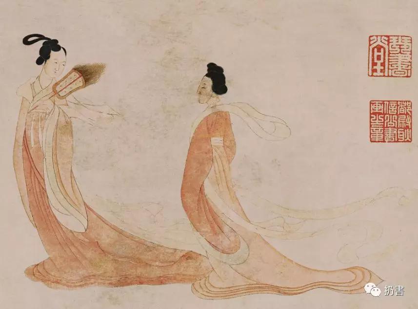 《湘君湘夫人图》局部