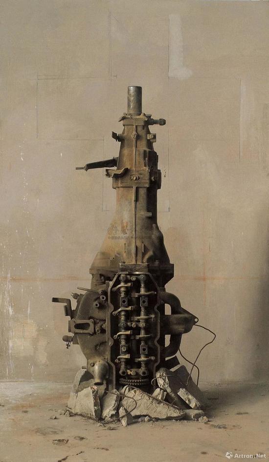 冷军《丰碑》布面油画170×100cm 1994年