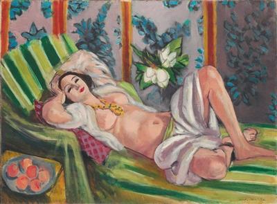 拍卖史上最贵的马蒂斯作品 《侧卧的宫娥与玉兰花》上拍