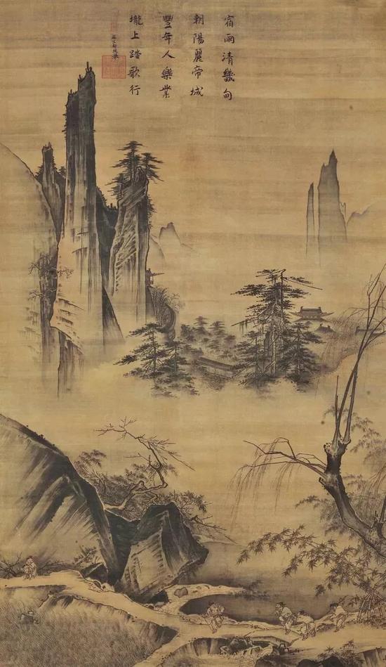 《踏歌图》 马远191.8 x 104.5 cm北京故宫博物馆藏