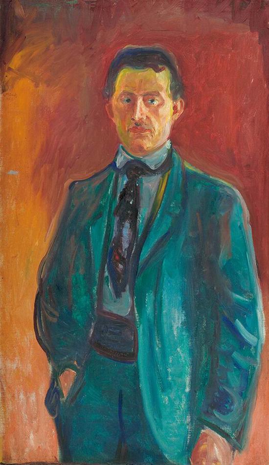 红色背景的自画像 1906年 油彩、油画