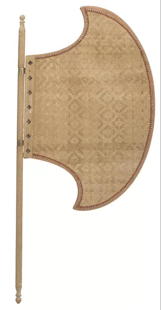 (清)蒲席斧式木柄扇