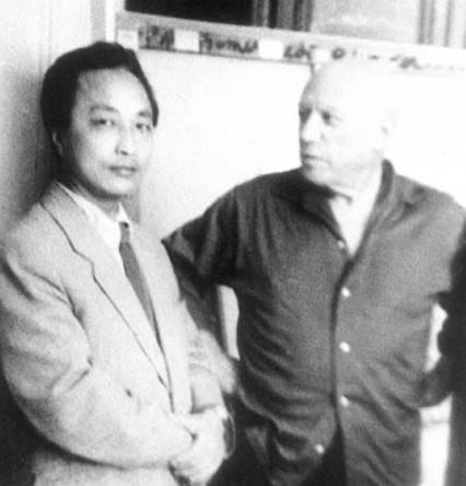 张仃与毕加索