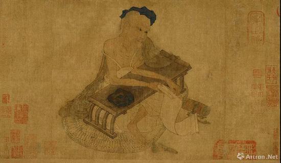 (传)唐代 王维《伏生授经图卷》