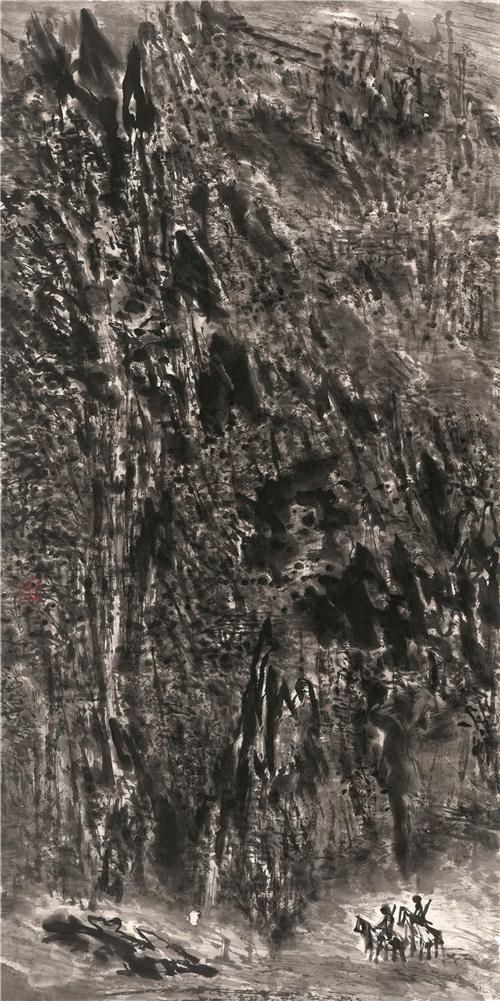 《边疆卫士》2016年 68cm×136cm