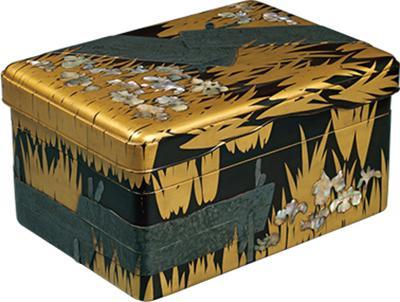国宝 尾形光琳作 八桥莳绘螺钿砚箱 江户时代(18世纪) 东京国立博物馆藏