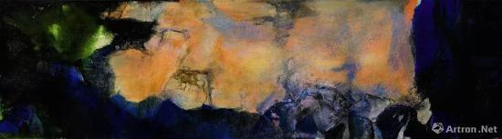 趙無極《1985年6月至10月》 油畫畫布(三聯屏) 280 x 1000 cm 1985年作