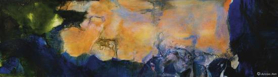当代赵无极《1985年6月至10月》油画(2018年苏富比秋拍以4.5亿落槌,5.1亿成交。2005年在香港佳士得以1800万成交)