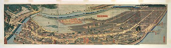 《再改横滨风景》,1861