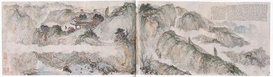 傅抱石 《〈画云台山记〉图》 1941年作 南京博物院藏