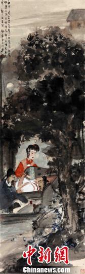 著名画家傅抱石的代表作《琵琶行诗意》6月17日晚拍出1.035亿元人民币。 主办方供图 摄