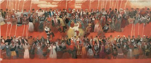 《共舞和谐》260×640cm 2011年