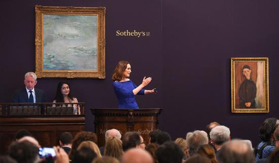 2019年6月伦敦苏富比印象派及现代艺术晚拍现场