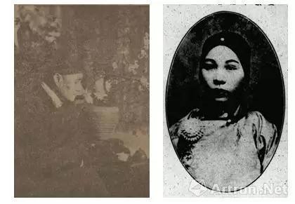 左图:蔡哲夫像 右图:张倾城像