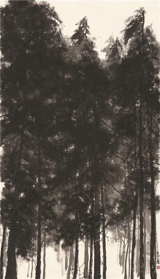 任速雁《冬至》178×96cm