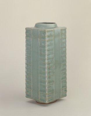 宋龙泉窑青釉琮式瓶,北京故宫