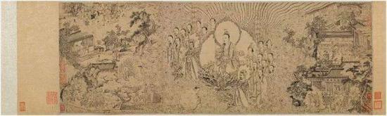 翁捐售给上海博物馆的南宋画家梁楷《道君像》
