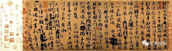 """(颜真卿的祭侄文稿融入强烈的悲伤情感,属于中国的表现主义,早于西方""""表现主义""""1100多年)"""
