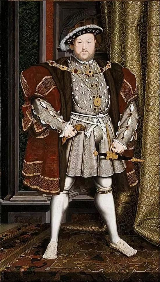 英王亨利八世的传世形象 就是由小荷尔拜因绘制的