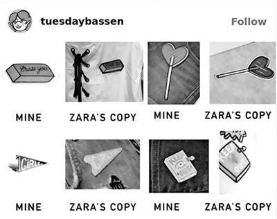 """周二·巴森的设计遭Zara""""借鉴"""""""