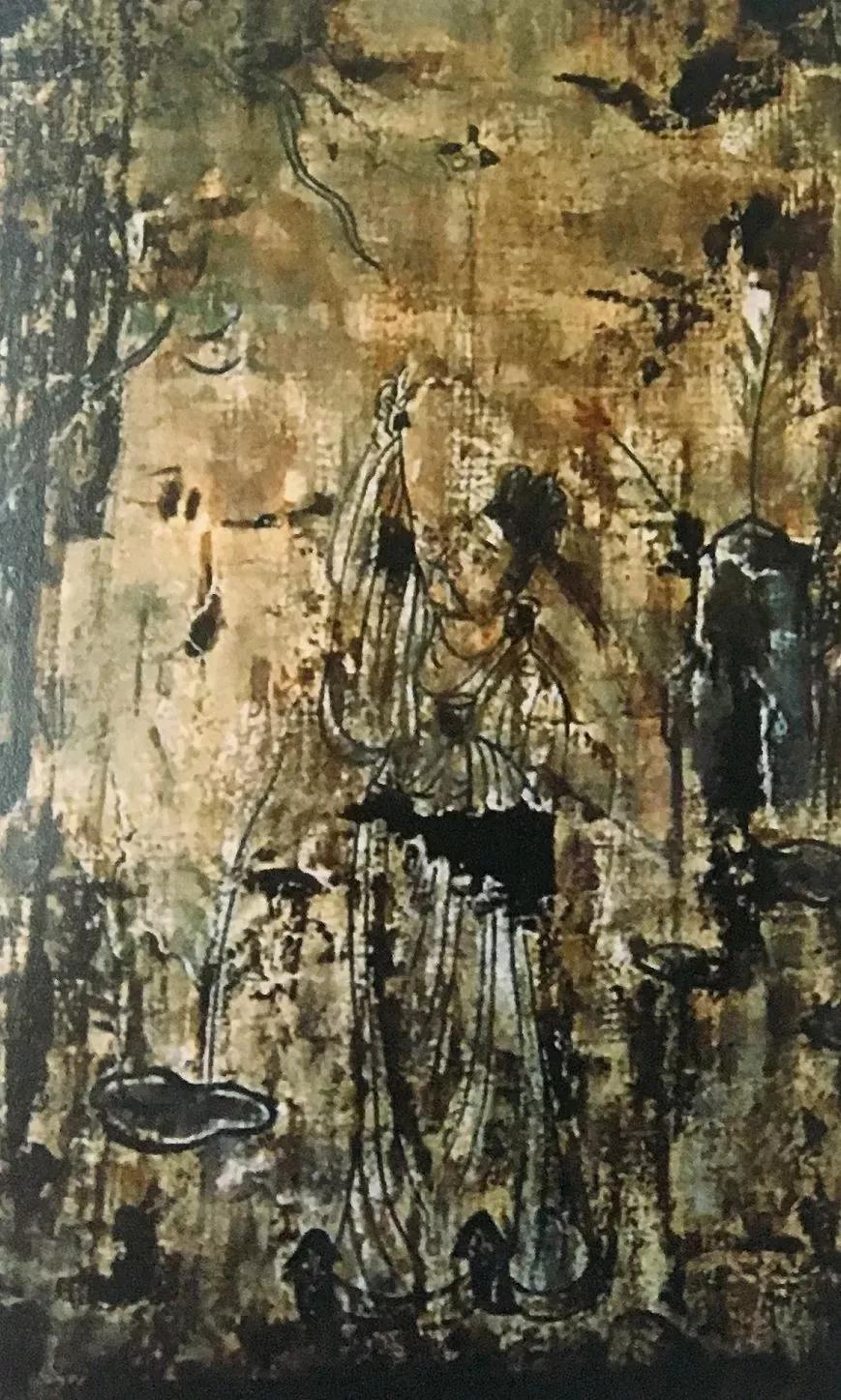 ▲山西太原金胜村337号唐墓墓室第2幅屏风画