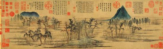 ▲赵孟頫《鹊华秋色图》