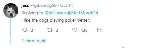网友@jess:我还是更喜欢狗玩扑克。