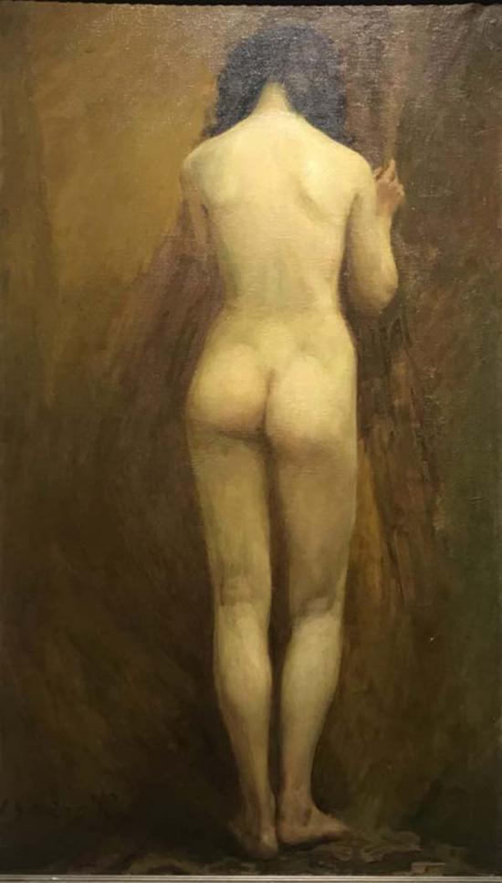 任丽君,《背面少女人体》, 布上油画,1982