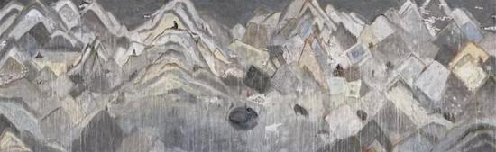 四维之一,纸本水墨,180×576cm, 2018