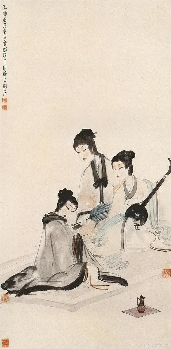 傅抱石抗战客蜀时期的六朝题材故事画