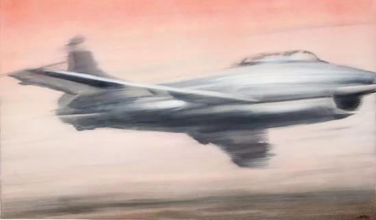 格哈德·里希特 《喷气式飞机》(Düsenj?ger) 1963 布面油画 130x200cm