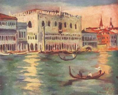 刘海粟《威尼斯之夜》,1931年