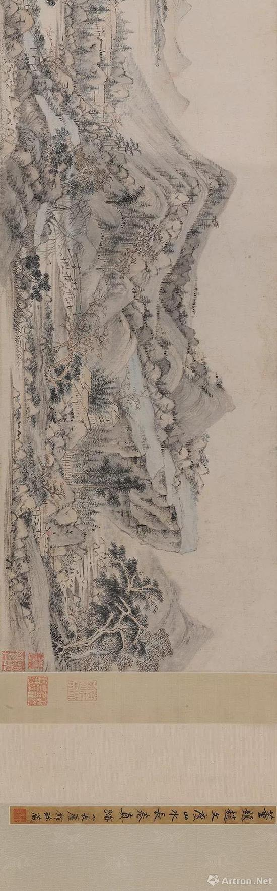 赵左(明,万历—崇祯) 谿山无尽图 手卷 设色纸本 尺寸 28×598cm
