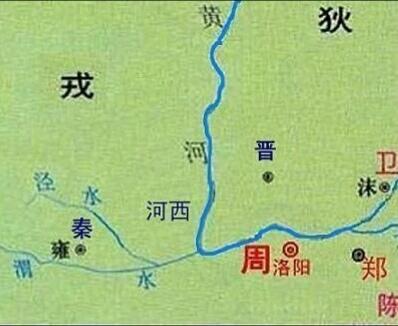 春秋时期的秦国地图 (图片来于网络)