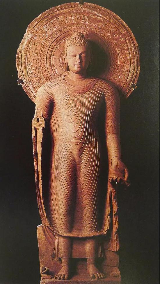 公元5世纪的秣菟罗风格佛像,大都会艺术博物馆藏